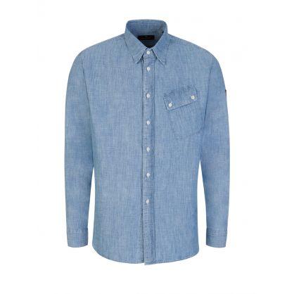 Blue Pitch Twill Shirt