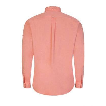 Pink Garment-Dyed Cotton Pitch Twill Shirt