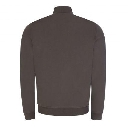 Grey Slim-Fit Zip-Through Sweatshirt