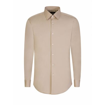 Menswear Beige Slim-Fit Jango Shirt