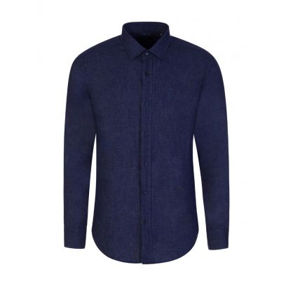 Blue Joy Slim Fit Linen Shirt