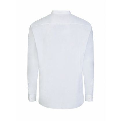 Menswear White Slim-Fit Jorris Grandad Shirt