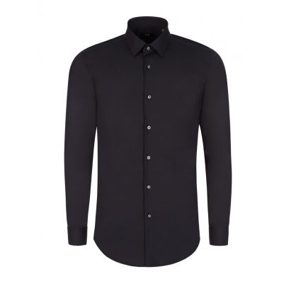 Black Slim Fit Isko Shirt