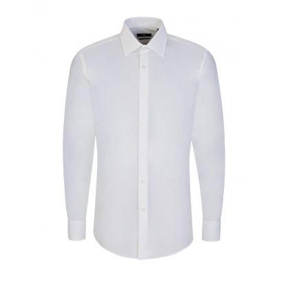 White Jango Script Slim Fit Shirt