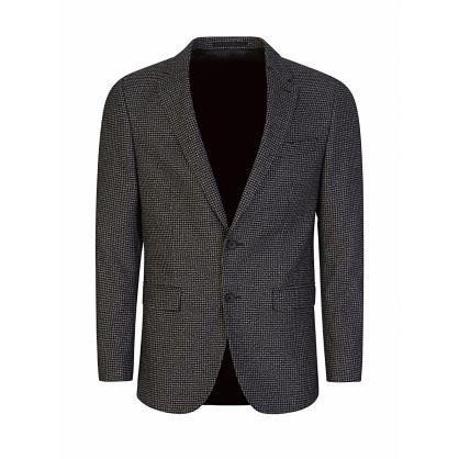 Black Slim-Fit Patterned Novan6/Ben2 Suit