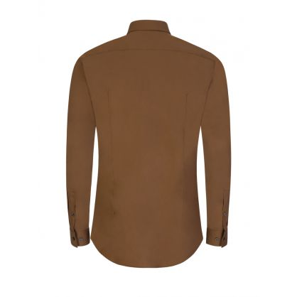 Brown Slim Fit Isko Shirt