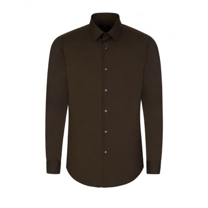 Green Slim-Fit Isko Shirt