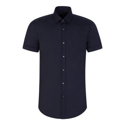 Navy Formal Travel Slim-Fit Jats Shirt