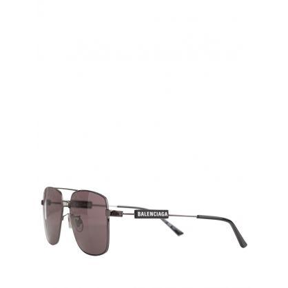 Silver/Black Invisible Aviator Sunglasses