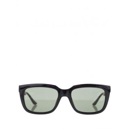 Black/Green Sunglasses