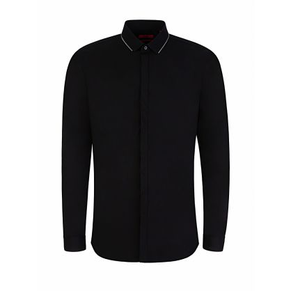 Menswear Black Extra-Slim-Fit Evidio Shirt