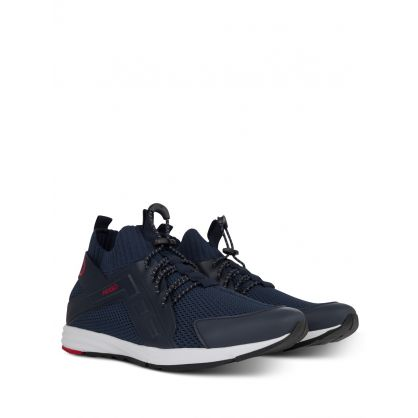 Navy Low-Top Hybrid Runner Trainers