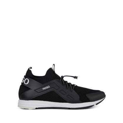 Black Low-Top Hybrid Runner Trainers