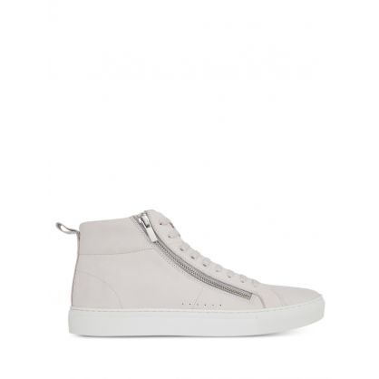 Grey High-Top Zip Detail Futurism Trainers