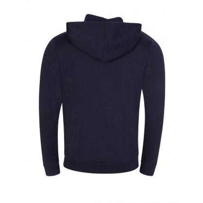 Navy French-Rib Cotton Zip-Through Hoodie
