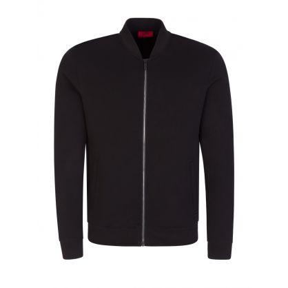 Black Donsor Zip-Through Sweatshirt