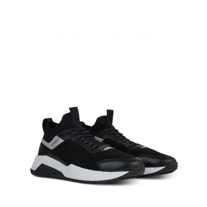 Black Atom Runner Trainers