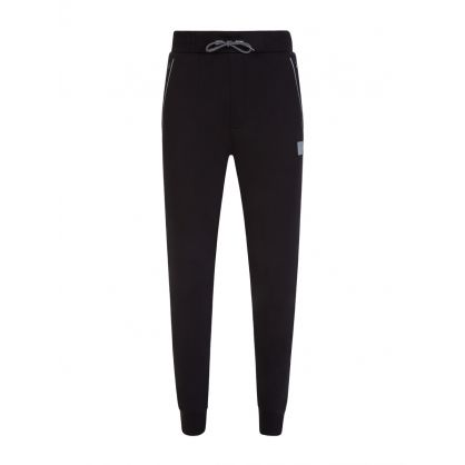 Black Stretch Fabric Dox Sweatpants