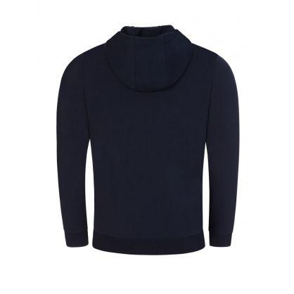 Dark Blue Daple212 Hooded Zip-Through