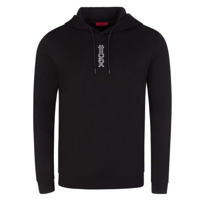 Black Dondy213 Cropped Logo Popover Hoodie