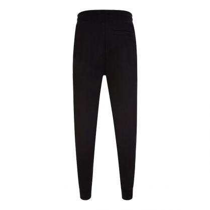 Black Daky213 Cropped Logo Sweatpants