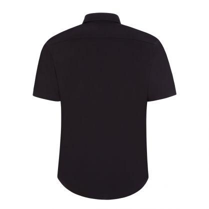 Black Ermino Short Sleeve Shirt