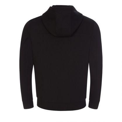 Black Durdie Hooded Zip-Through