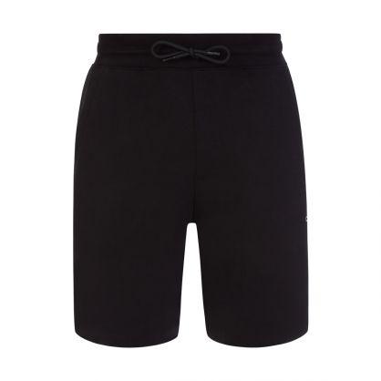 Black Doolio Cropped-Logo Sweat Shorts