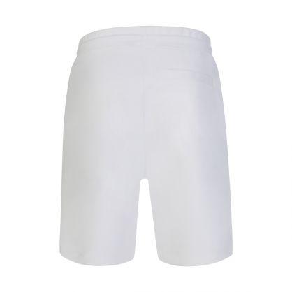 White Doolio Cropped-Logo Sweat Shorts