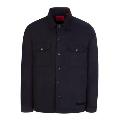 Black Oversized-Fit Enalu Manifesto Logo Shirt