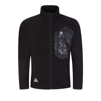 Black Contrast Fleece Zip-Through