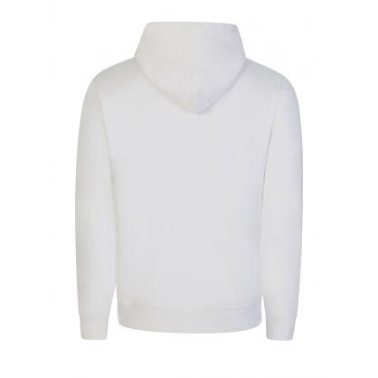 White Confetti Arch Logo Popover Hoodie