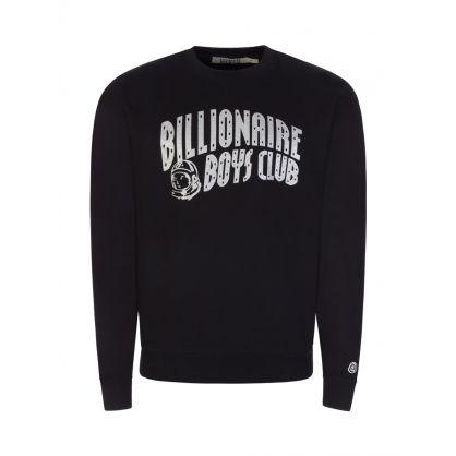 Black/Silver Glitter Arch Logo Sweatshirt