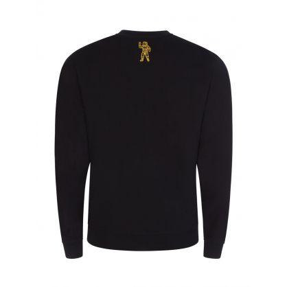 Black/Gold Glitter Arch Logo Sweatshirt