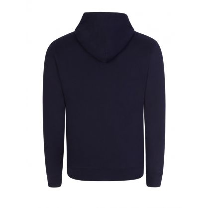 Navy Small Arch Logo Popover Hoodie