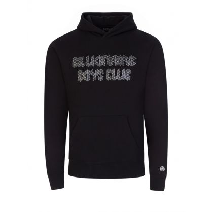 Black Magnetic Logo Popover Hoodie