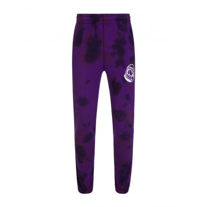 Purple Tie-Dye Sweatpants