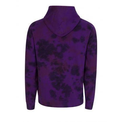 Purple Tie-Dye Popover Hoodie