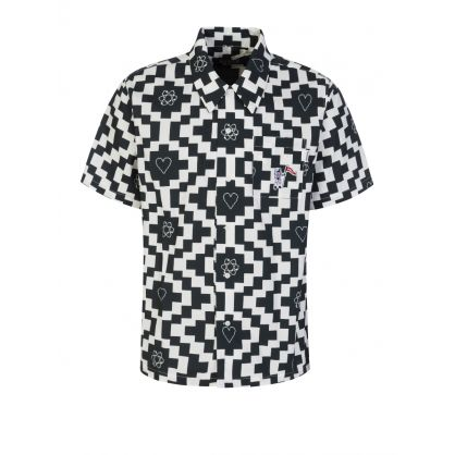Black/White All-Over Printed Shirt