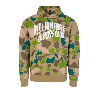 Camo All-Over Arch Logo Popover Hoodie