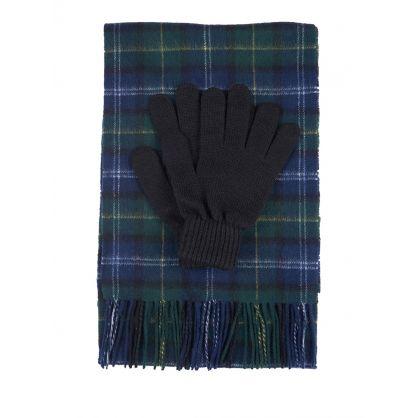 Green Tartan Scarf & Gloves Gift Set