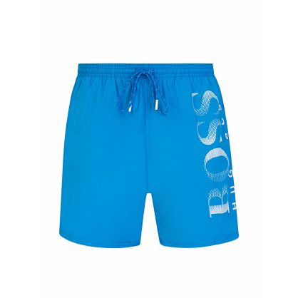 Blue Technical Fabric Octopus Swim Shorts