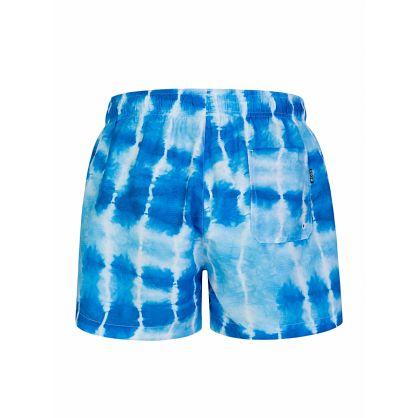 Blue Tie-Dye Sunfish Swim Shorts