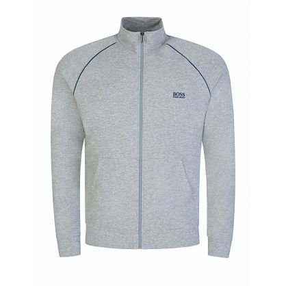 Menswear Grey Mix+Match Zip Funnel-Neck Sweatshirt