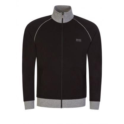 Menswear Black Mix + Match Funnel Neck Jacket