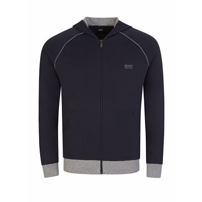 Menswear Navy Mix+Match Zip-Through Hoodie