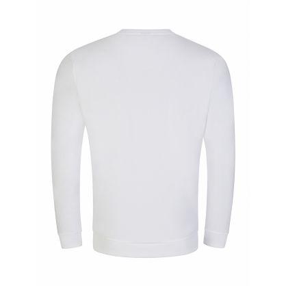 Menswear White Tonal Logo Heritage Sweatshirt