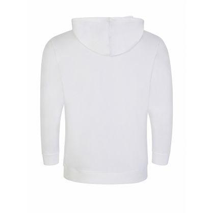 Menswear White Tonal Logo Heritage Hoodie