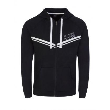 Black Bodywear Authentic Zip-Through Hoodie