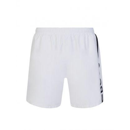 White Dolphin Mid-Length Swim Shorts